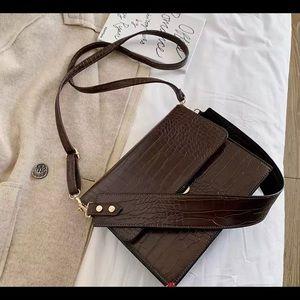 Handbags - Stone pattern PU leather bag